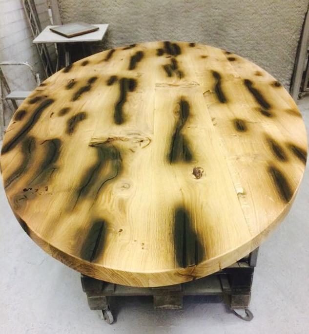 Tafel: transformatie van eiken balk naar tafel